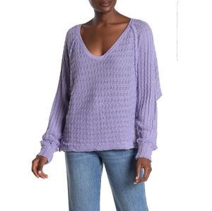New Free People Thien's Hacci Top Size Large